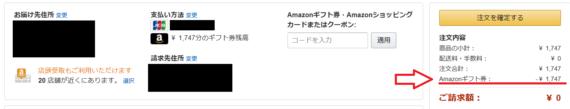 Amazonギフト券での支払い-2