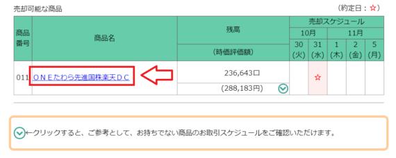 楽天証券iDeCo商品入れ替えスイッチングの手順4