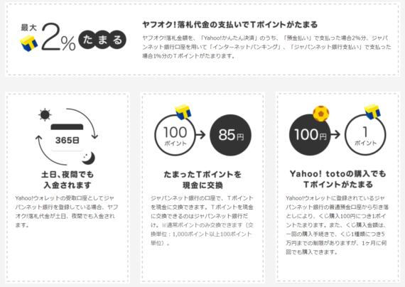 ジャパンネット銀行のメリット
