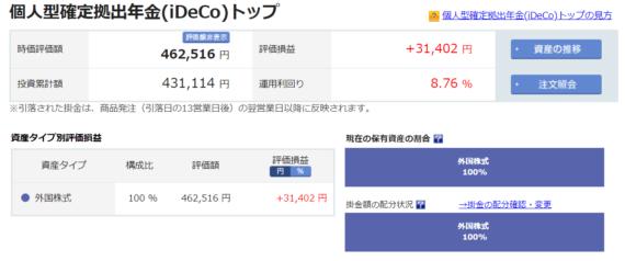 楽天証券iDeCo2019-0425
