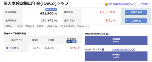 楽天証券iDeCo2019-11-27